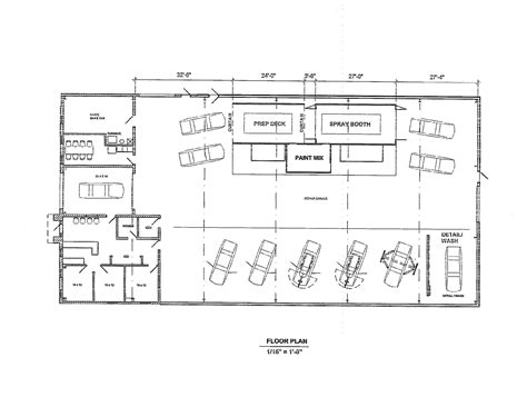 Free Commercial Auto Shop Floor Plans