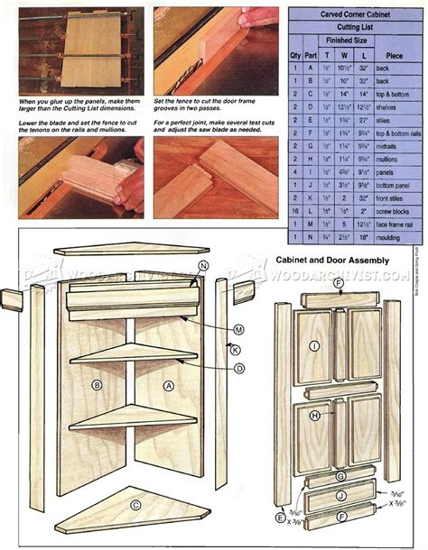 Free Corner Hutch Woodworking Plans