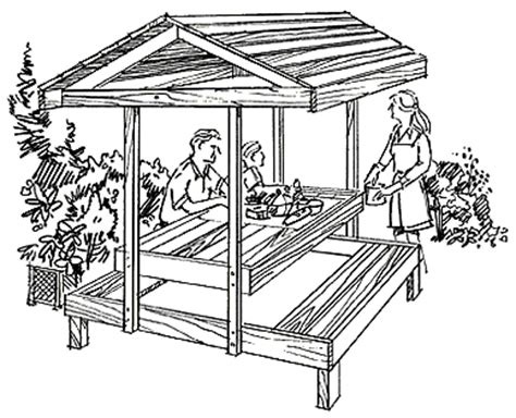 Free Covered Picnic Table Plans