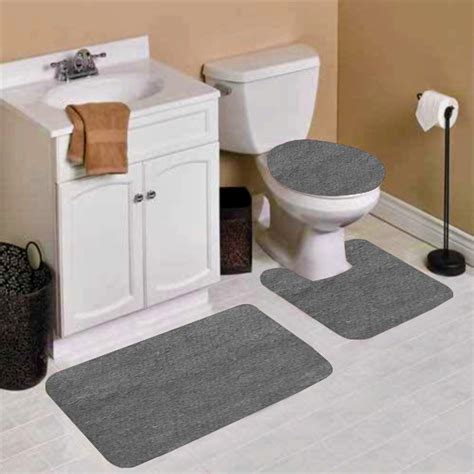 Free Delivery Gray Bathroom Rug Sets