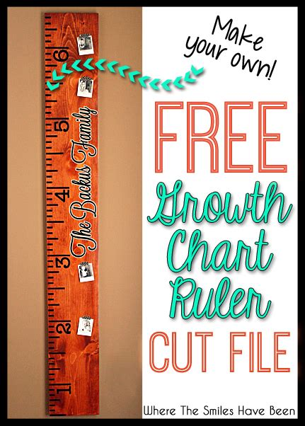 Free Diy Growth Chart Ruler Cut File