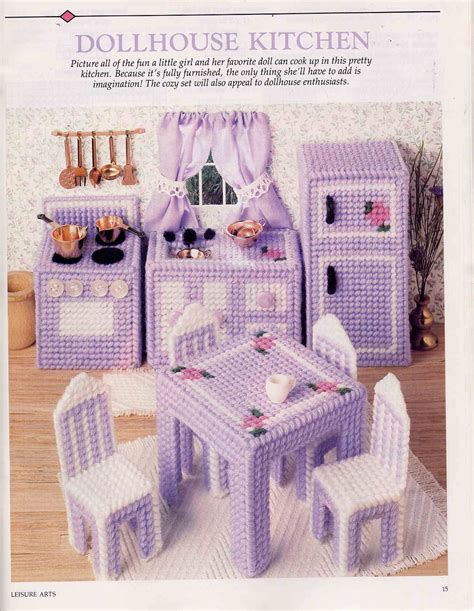 Free Dollhouse Furniture Plastic Canvas Pattern