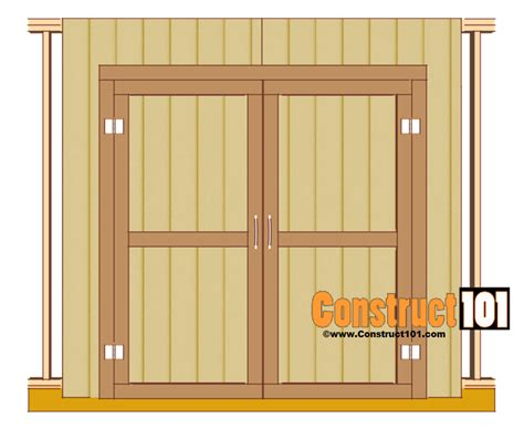 Free Double Shed Door Plans