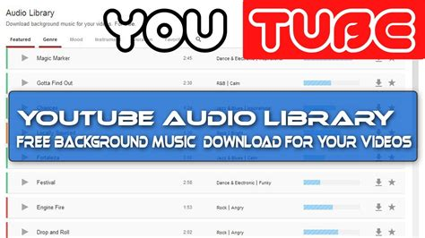 [click]free Download Background Music For Your Youtube Videos.