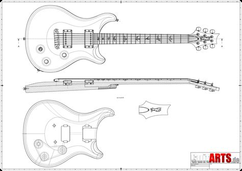 Free Dxf Dwg Guitar Plans