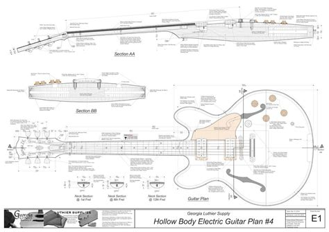 Free Electric Guitar Body Plans In Human
