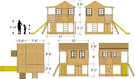 Free Elevated Playhouse Plans And Blueprints