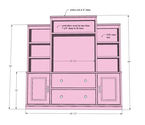 Free Entertainment Center Design Plans