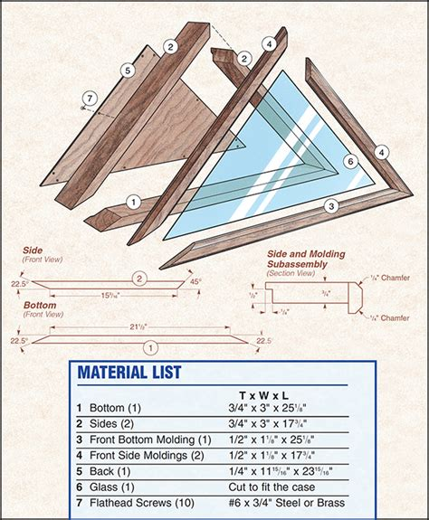 Free Flag Display Case Plans