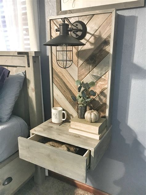 Free Floating Nightstand Plans