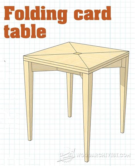 Free Folding Card Table Plans