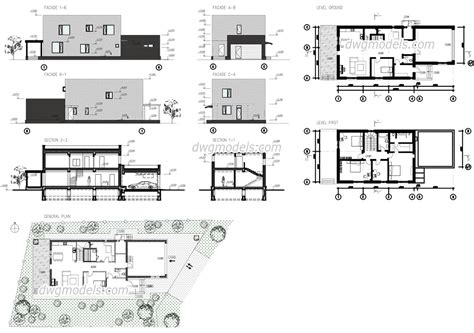 Free House Plans In Autocad Format