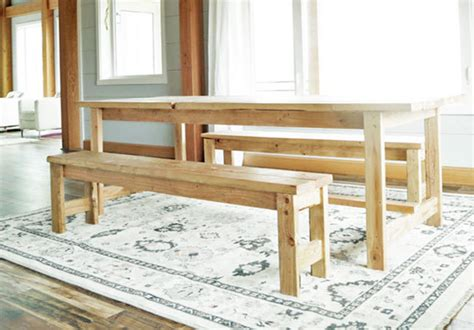 Free Kitchen Table Bench Plans Beginner