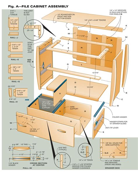 Free Lateral File Cabinet Plans