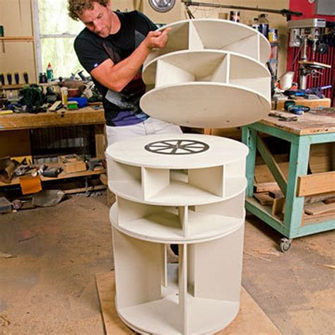 Free Lazy Susan Shoe Rack Plans