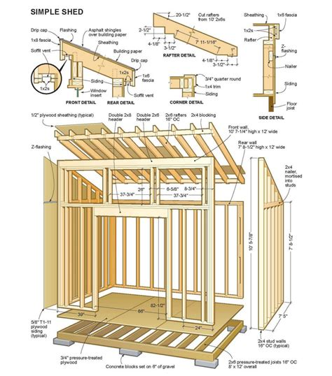 Free Lean To Shed Plans 12 X 24 Storage Sheds