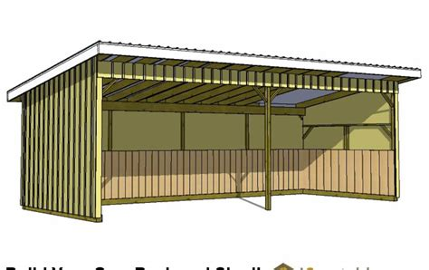 Free Lean To Workshop Plans