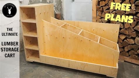 Free Lumber Storage Cart Plans