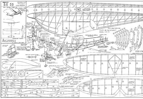Free Model Airplane Plans Blueprints