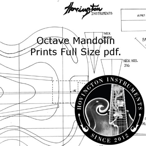 Free Octave Mandolin Plans