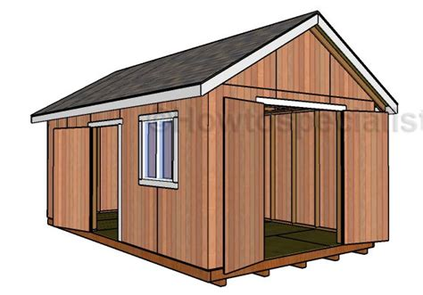 Free Online 12x20 Storage Shed Plans
