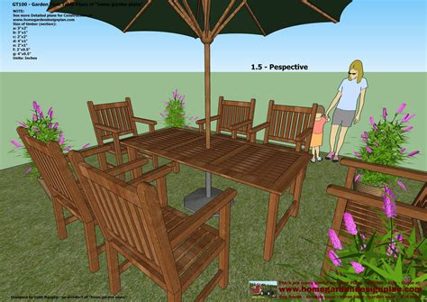 Free Online Garden Woodwork Plans Table
