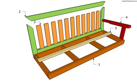 Free Outdoor Bench Swing Plans
