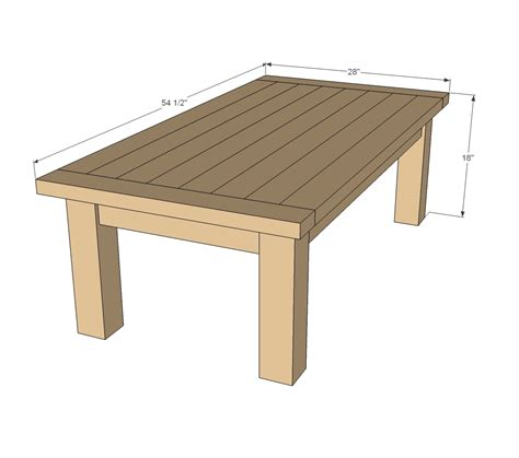 Free Outdoor Coffee Table Plans