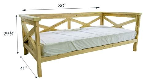 Free Outdoor Daybed Plans