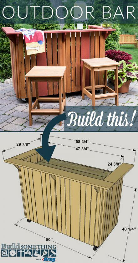 Free Outdoor Free Bar Woodworking Plans