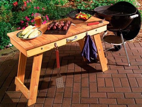 Free Outdoor Grill Table Plans