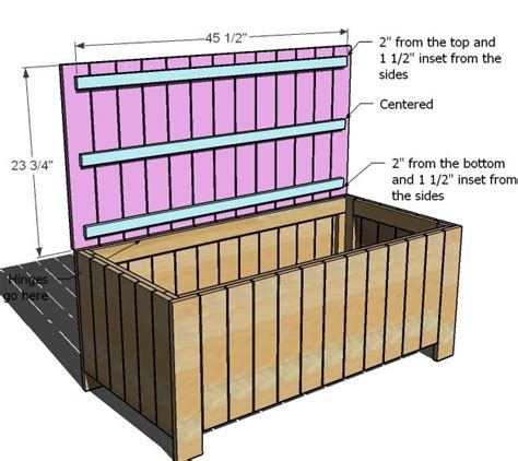 Free Outdoor Storage Chest Plans