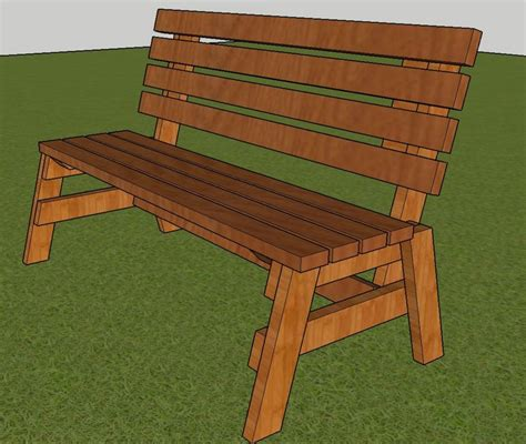 Free Park Bench Plans Printable