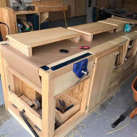 Free Plank Top Workbench Plans