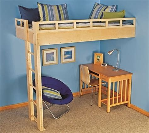 Free Plans For A Loft Bed With Desk