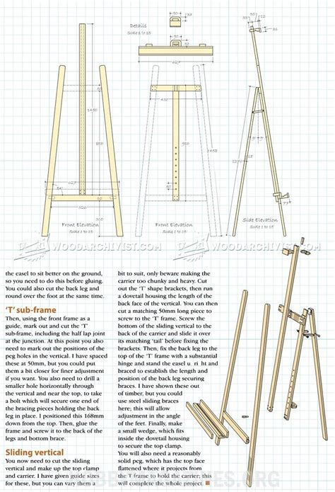 Free Plans For Easels