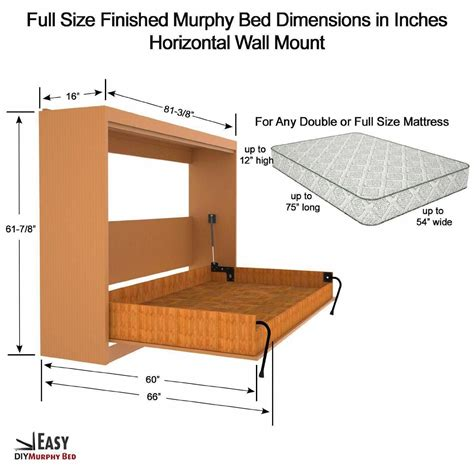 Free Plans For Horizontal Murphy Bed Plans