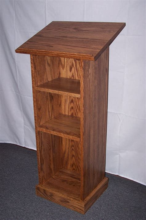 Free Plans On How To Build A Lectern