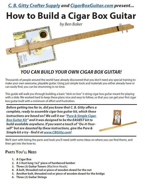 Free Plans To Build A Cigar Box Guitar
