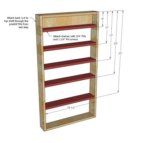 Free Plans To Build A Spice Rack