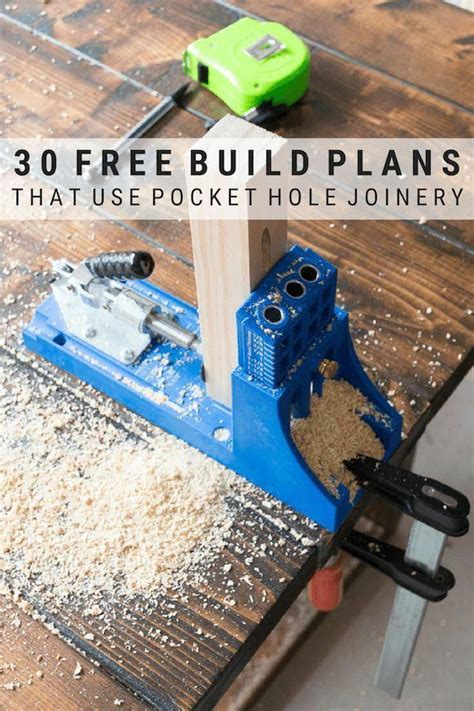 Free Pocket Hole Joinery Plans