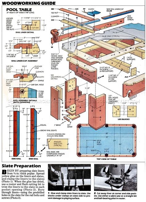 Free Pool Table Woodworking Plans