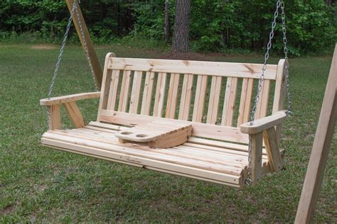 Free Porch Swing Plans With Cup Holders