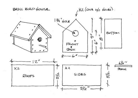 Free Printable Birdhouse Blueprints For Kids