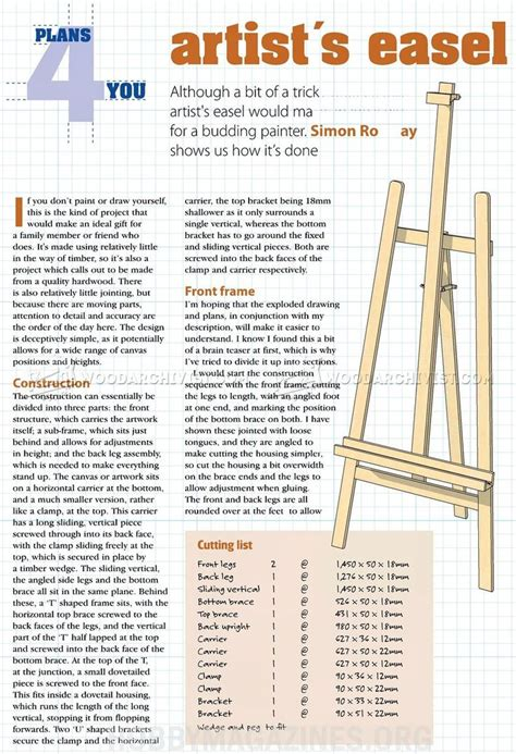 Free Printable Woodworking Plans Easel