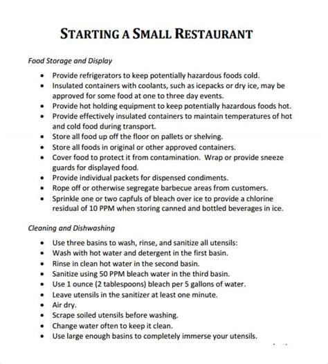 Free Restaurant Bar Business Plan Template