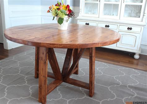 Free Round Kitchen Table Plans