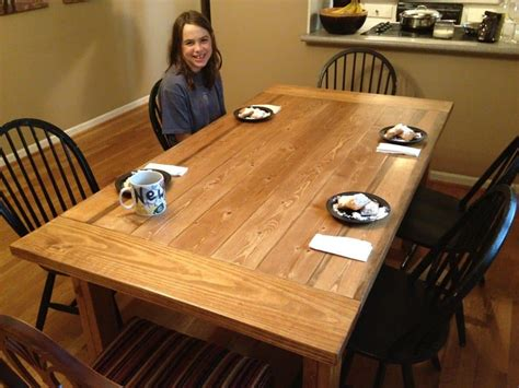 Free Rustic Kitchen Table Plans