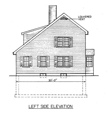 Free Saltbox House Plans
