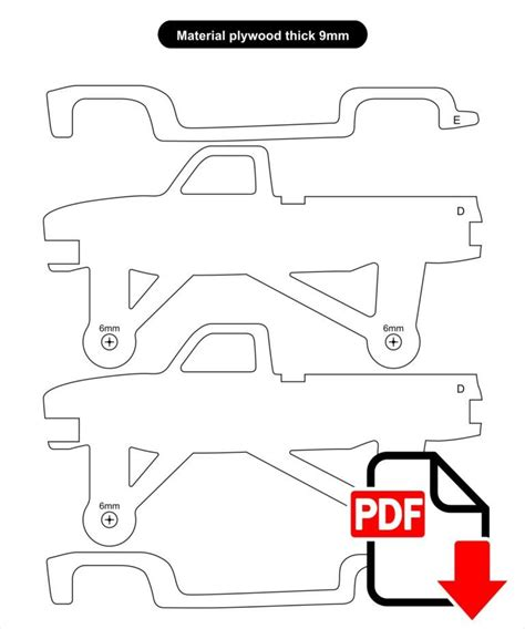 Free Scroll Saw Patterns To Print Trucks Tv Dodge